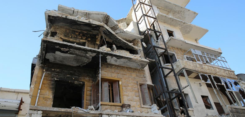 Als ich mein Haus in Aleppo besuchte und eine Familie darin ...