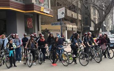 Die Cairo Cycling Geckos auf Achse, hier bei ihrem Massive New Years Ride